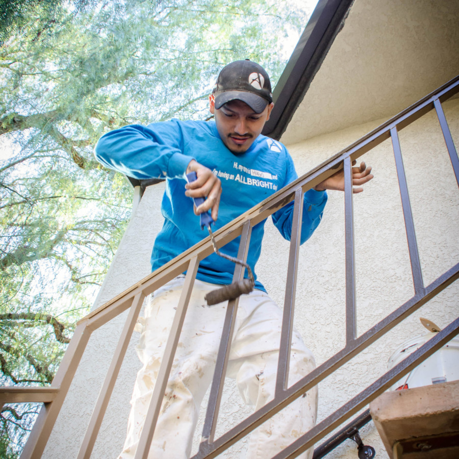 picture of ALLBRiGHT 1-800-PAINTING painter painting railing