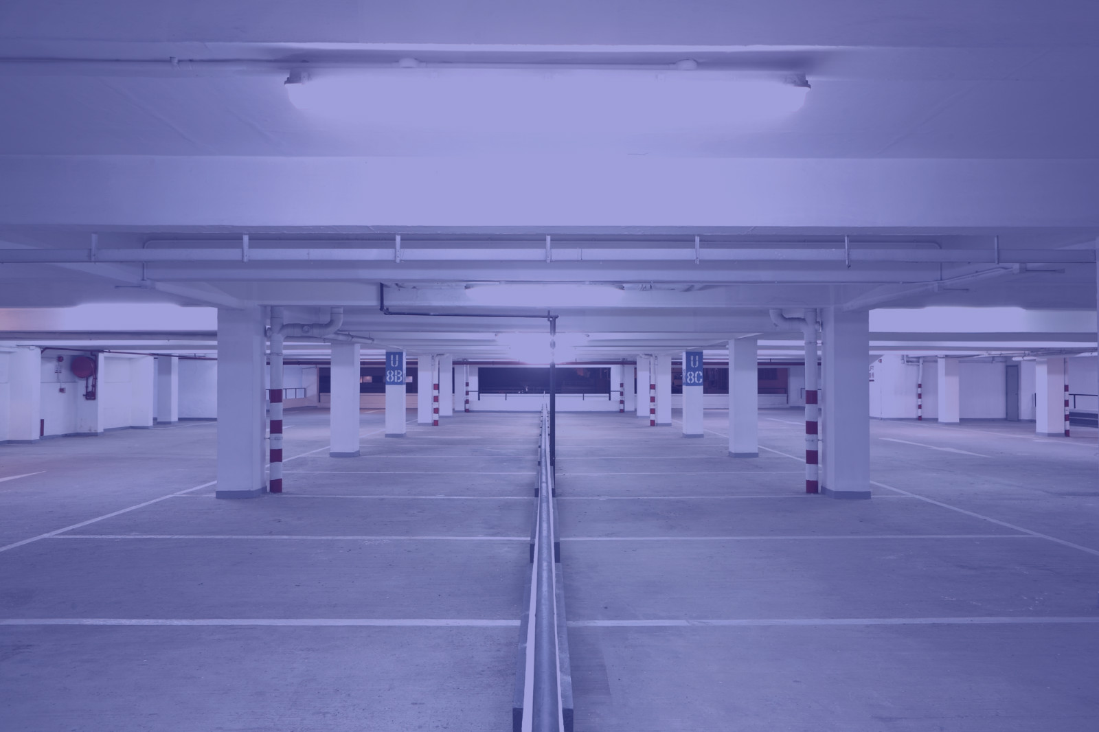 picture of freshly painted parking structure