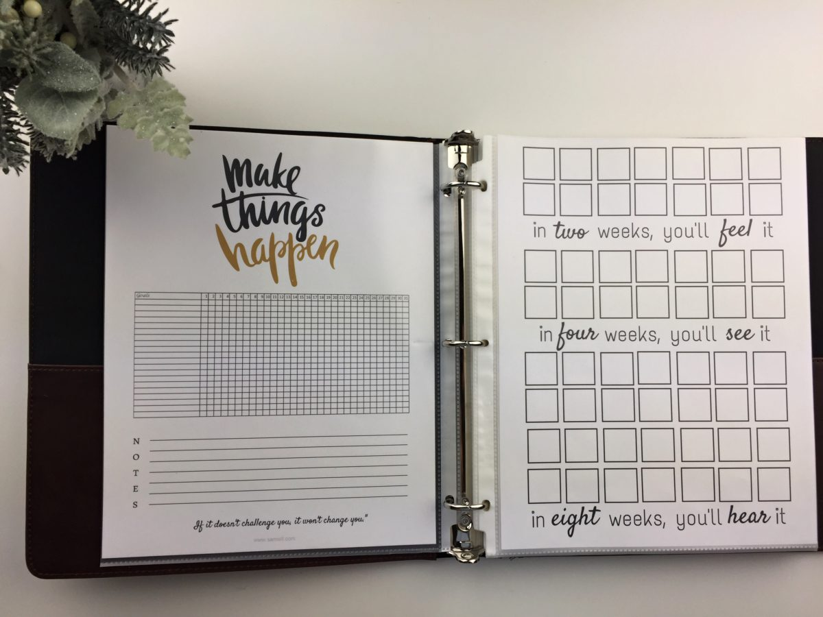make things happen, goal tracker, printables, samsill, samsill binders