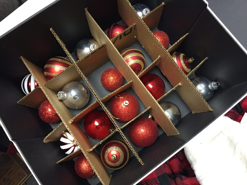 diy ornament storage using popnstore and amazon boxes