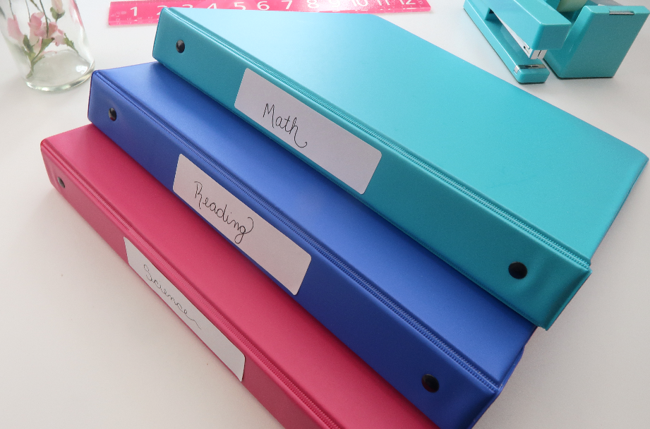 color coordinate, color coordinate back to school, colored binders, colored three ring binders, samsill, samsill binders, back to school, back to school supplies