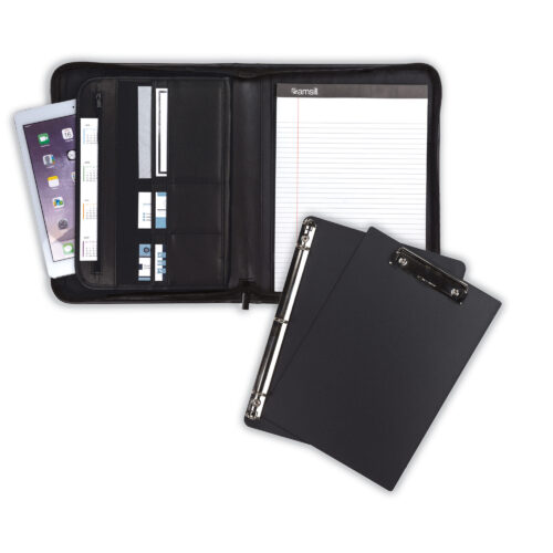 samsill padfolio,zipper padfolio, padfolio with clipboard, padfolio with binder, portfolio