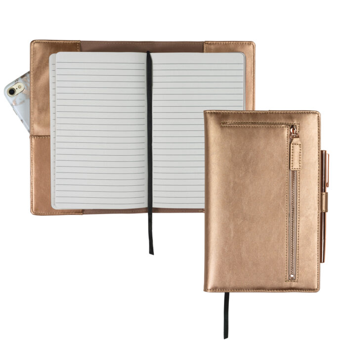 Rose Gold Journal, Rose Gold Notebook, Rose Gold Padfolio, Rose Gold Office Supplies