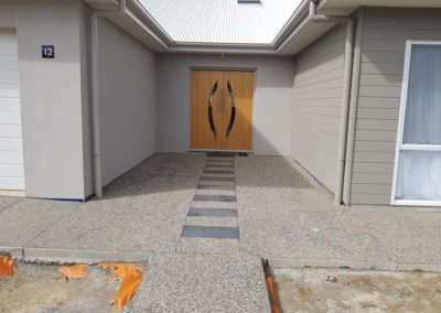 Exposed Aggregate Concrete driveway, paths and front steps. Newenham Mt Barker