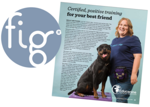 educanine featured in fig magazine bethlehem as top certified dog trainer