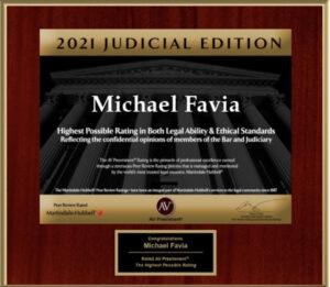 Michael Favia 2021 Preeminent AV Rating