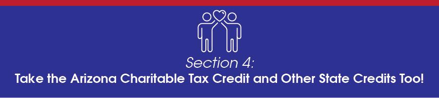 Take the Arizona Charitable Tax Credit and Other State Credits too.