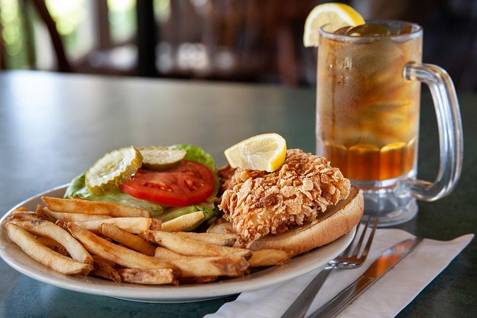 Chicken Sandwich at Captain's Galley