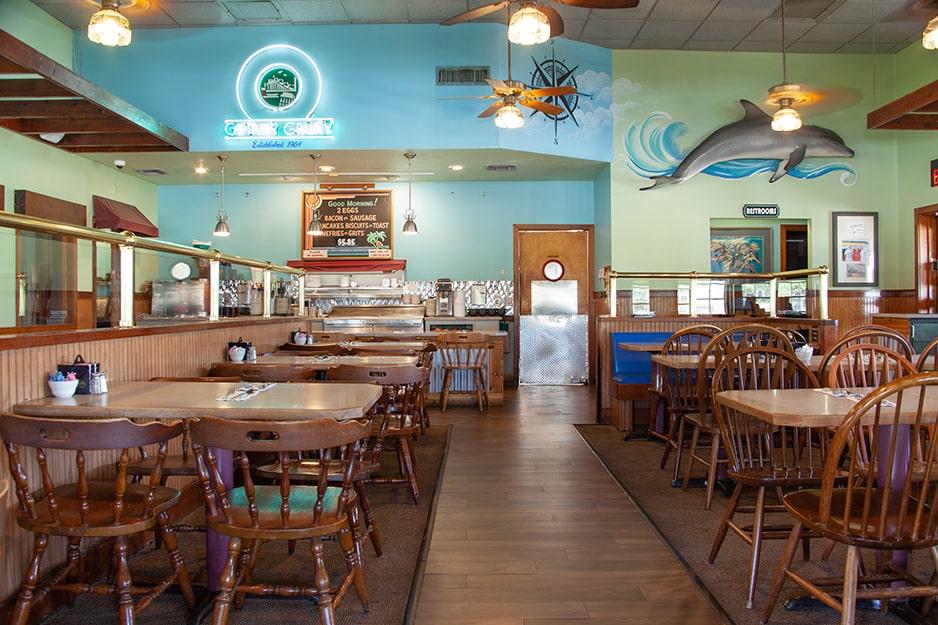 Interior of Captain's Galley Restaurant