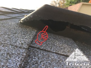 A static roof vent chewed by gray squirrels