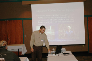 Chad Soard presenting community outreach