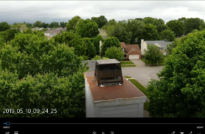 An image of a chimney cap from our drone