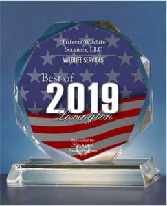 Trifecta Wildlife received 2019 Best of Lexington award