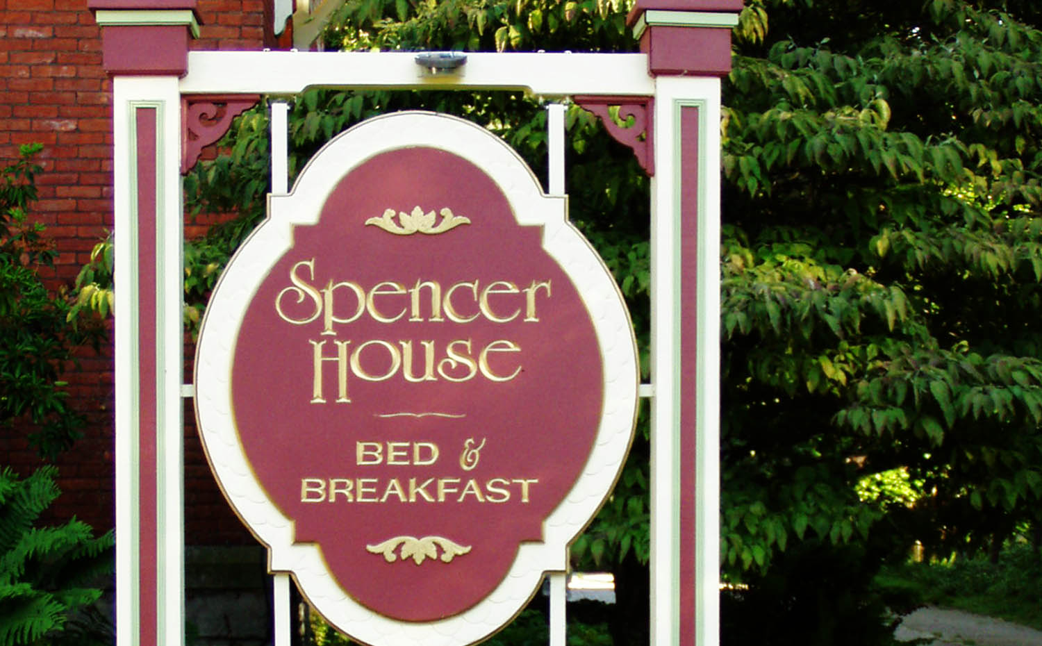 The Spencer House Sign in the front yard