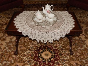 Coffee Table with Tea Service