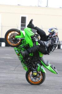 Professional stunt rider Dan Jackson