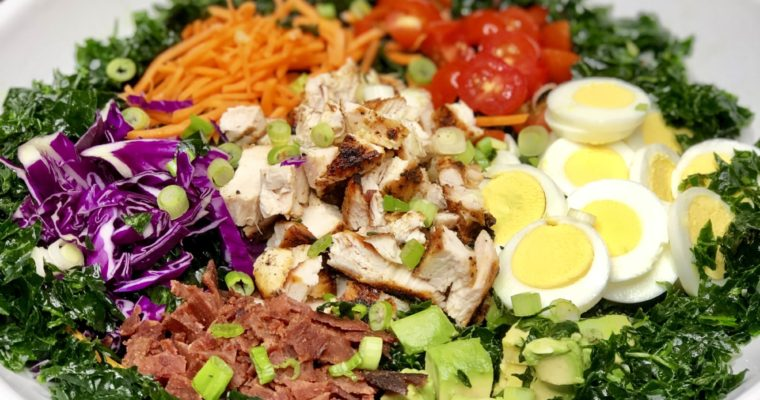 Healthy Kale Cobb Salad