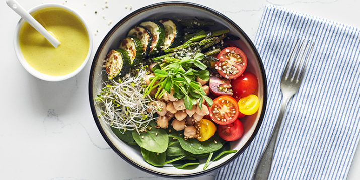 Buddha Bowl with Spring Vegetables