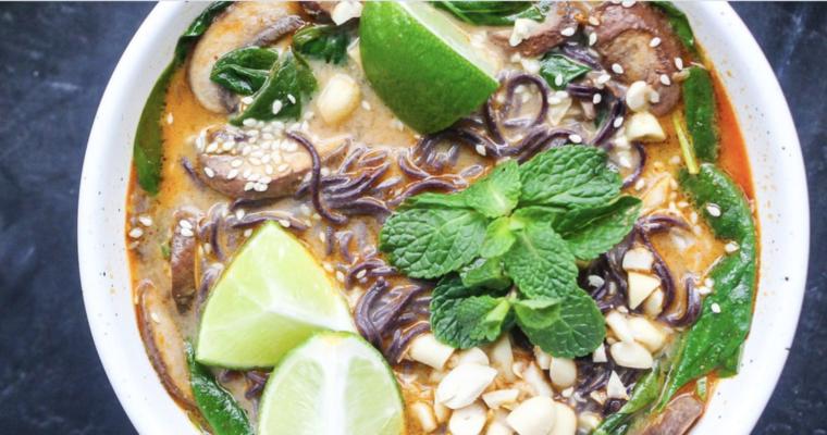 Vegan Peanut Ramen Soup