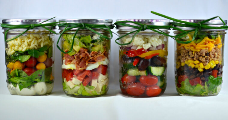 4 Layered Mason Jar Salads