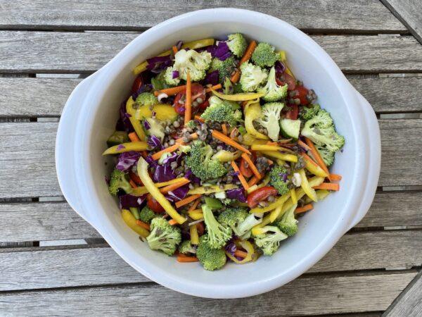 Marinated Veggie-Lentil Salad
