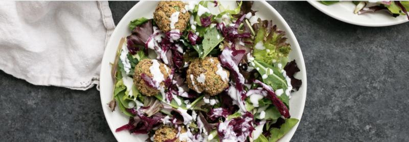 Falafel Tahini Mixed Greens Salad