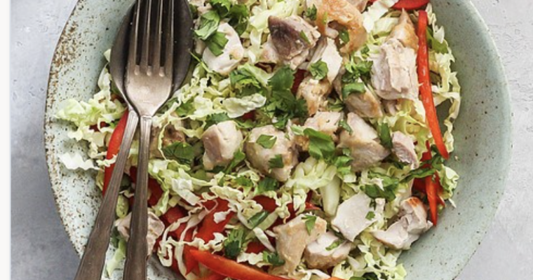 Tahini Honey Chicken Salad