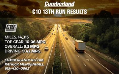 13th Run MPG Stats