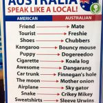 Australian Lingo and Terminology