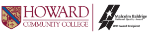 Howard Community College logo and Baldrige 2019 winner logo