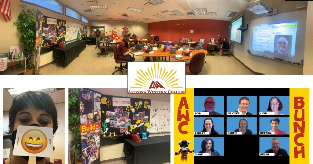 Photo collage of Arizona Western College's team pride during AFIT's 2020 Virtual Summer Institute.