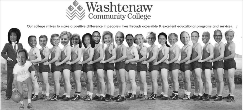 Funny virtual background featuring the Washtenaw Community College AFIT Summer Institute 2020 team.