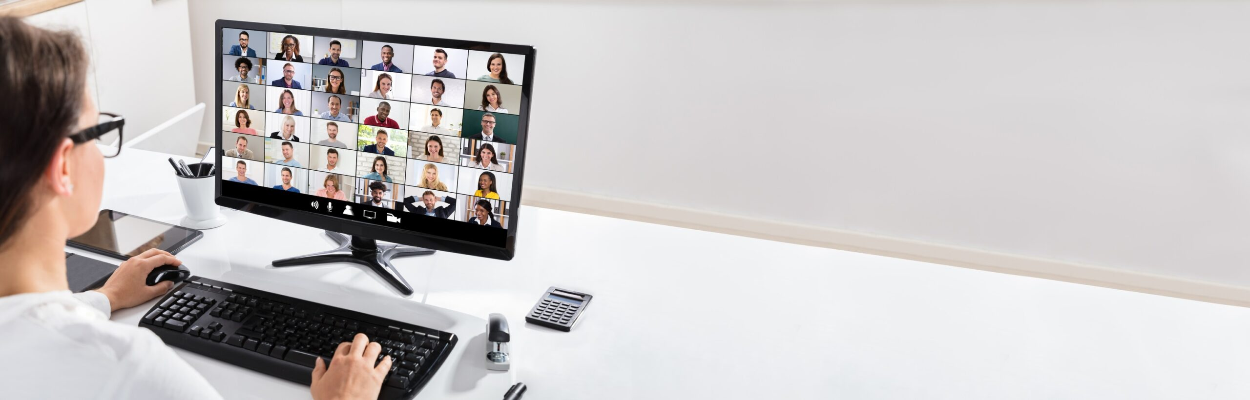 Photo of business woman on a Zoom call