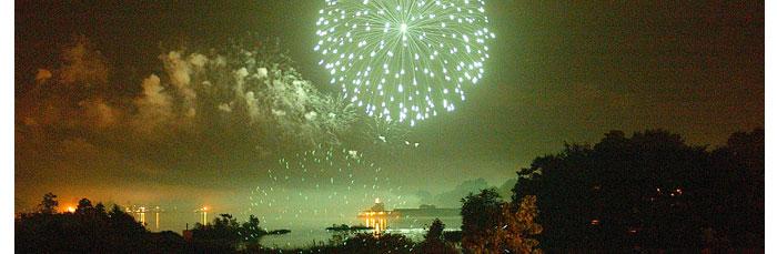 Niceville Florida Newcomer Information - Fireworks over Boggy Bayou