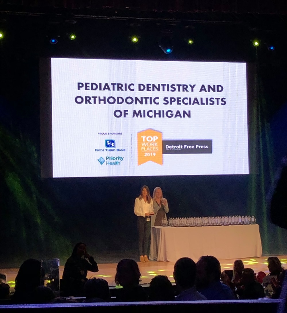 Pediatric Dentistry and Orthodontic Specialists of Michigan Named One of Detroit's Top Workplaces 2019