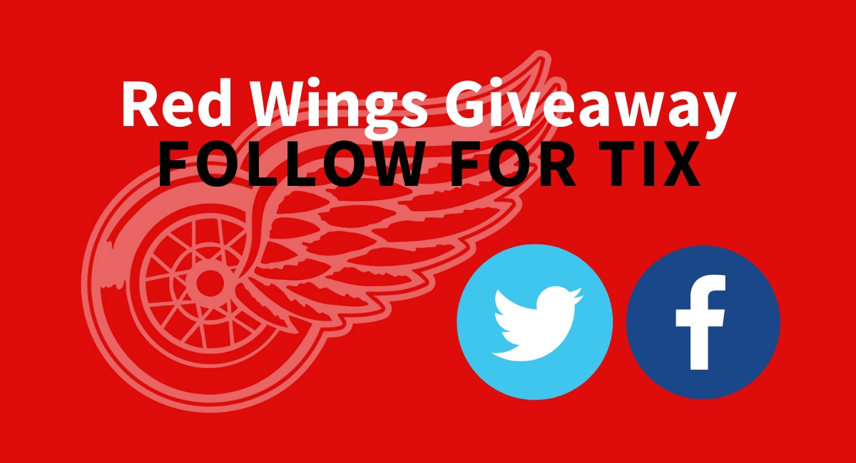 Follow Us For Detroit Red Wings Tickets!