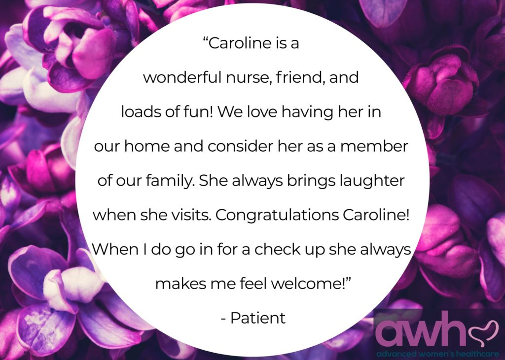 A recent patient shares her experience about Caroline, and AWH Dallas services.