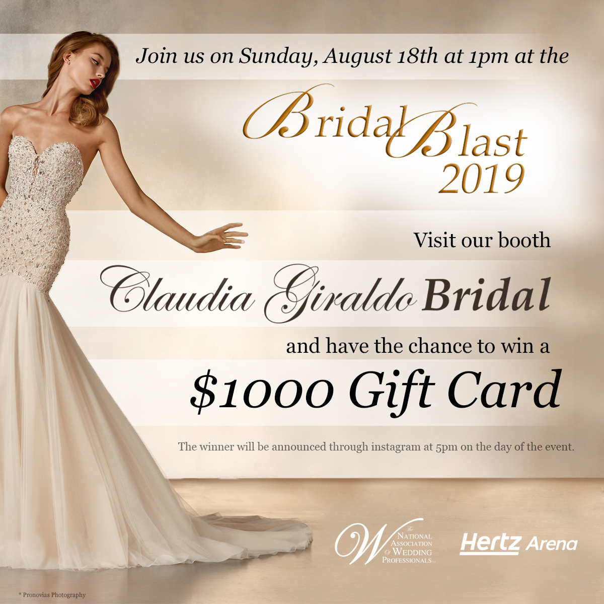 CLAUDIA GIRALDO BRIDAL AT THE BRIDAL BLAST!