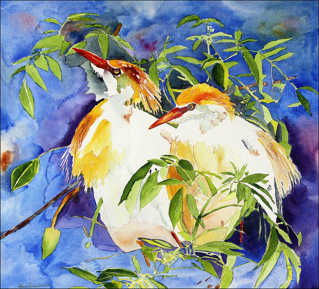 Egrets - Christine Unwin