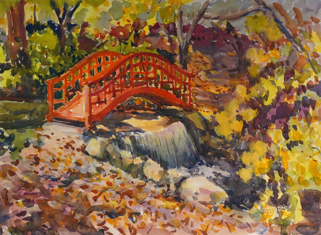 Cynthia Yates - Red Bridge Plein Air