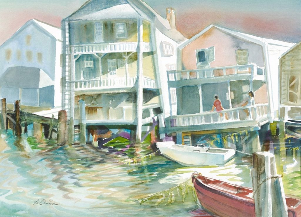 Carol LaChiusa - Oldtown Nantucket Topsy Turvy
