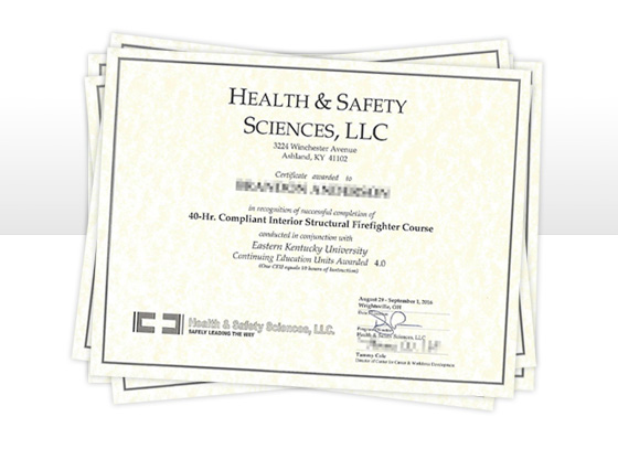 Health and safety Sciences Certificate - Eastern Kentucky University