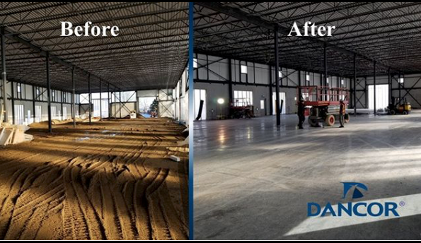 Dancor - Warehouse Before and after