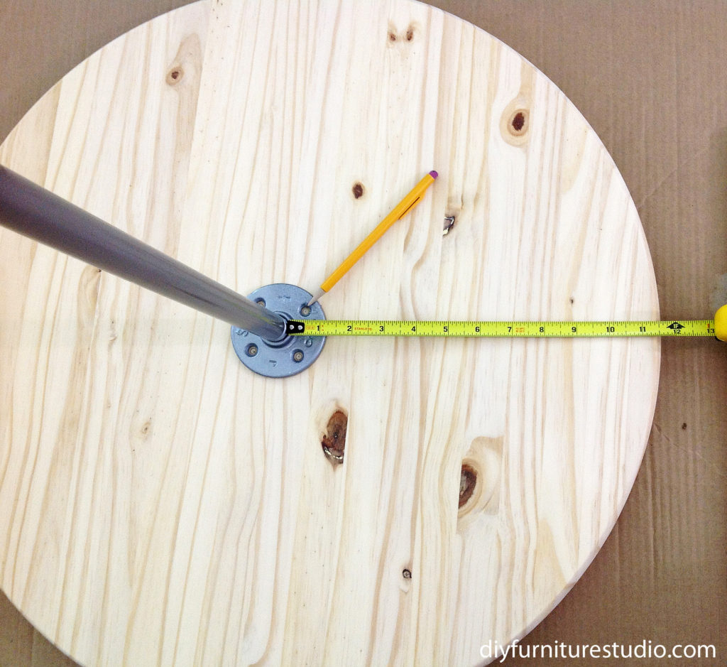 assembling bistro table base with round table top
