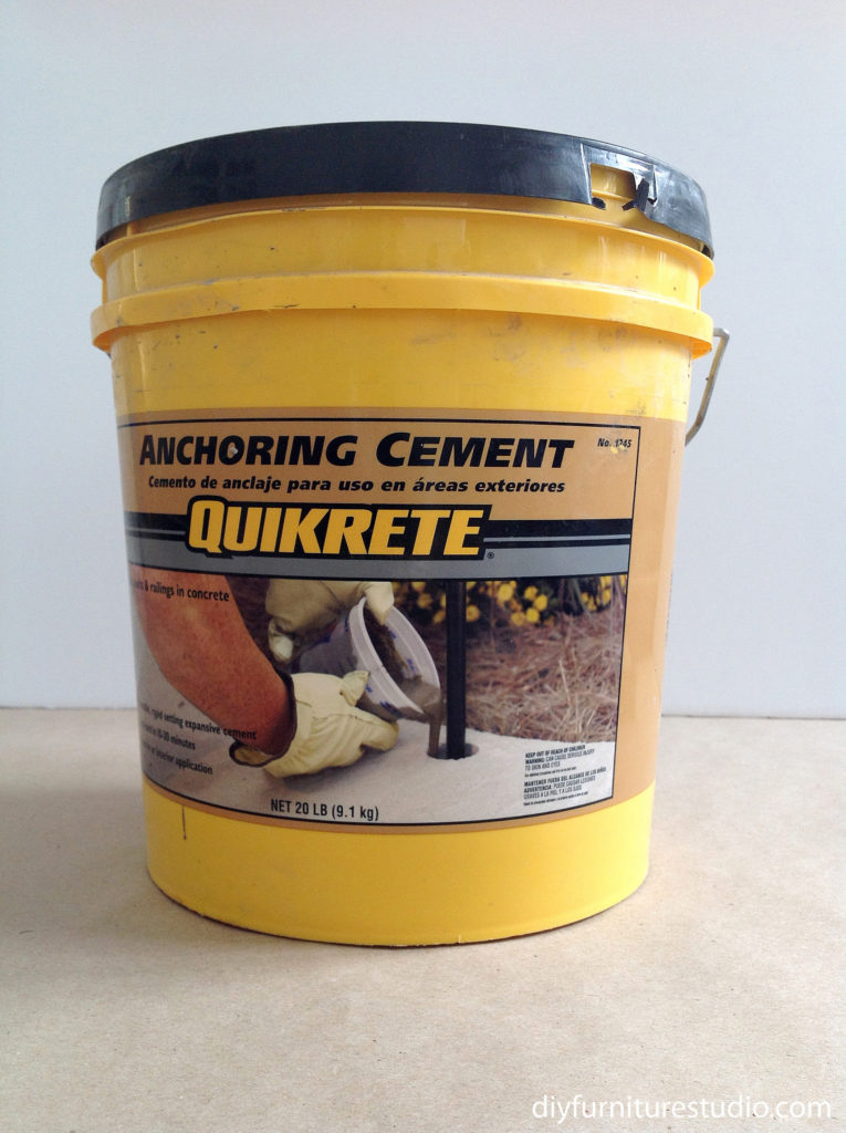 Quikcrete anchoring cement for DIY cement decor