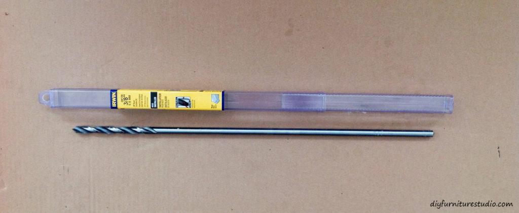 Long drill bit for DIY wood lamp.