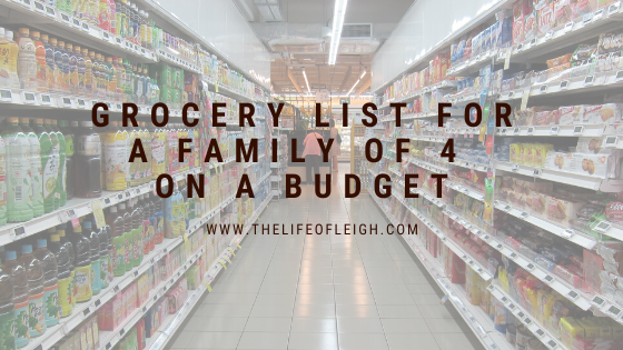 budget friendly grocery list