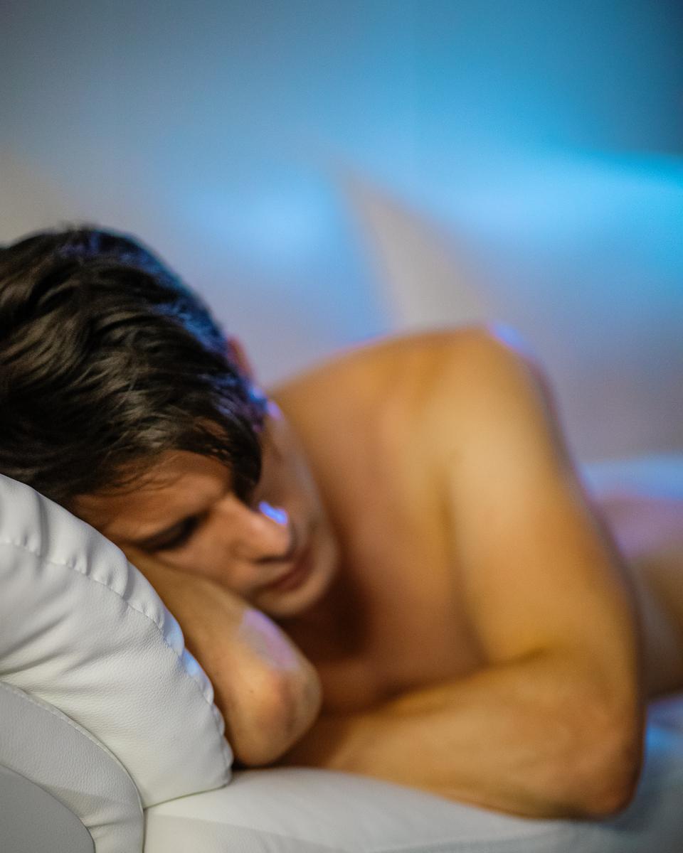 portrait of zaccy trying to sleep