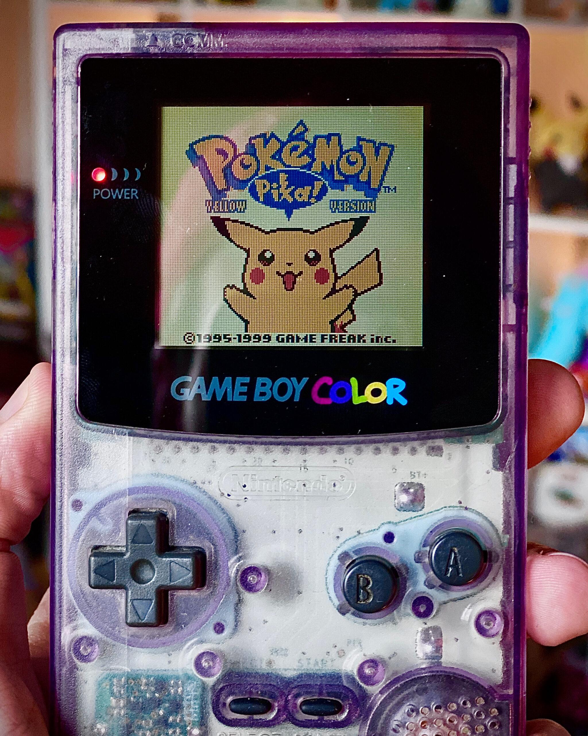 Pokémon Yellow Version GameBoy Color Cosmic Purple