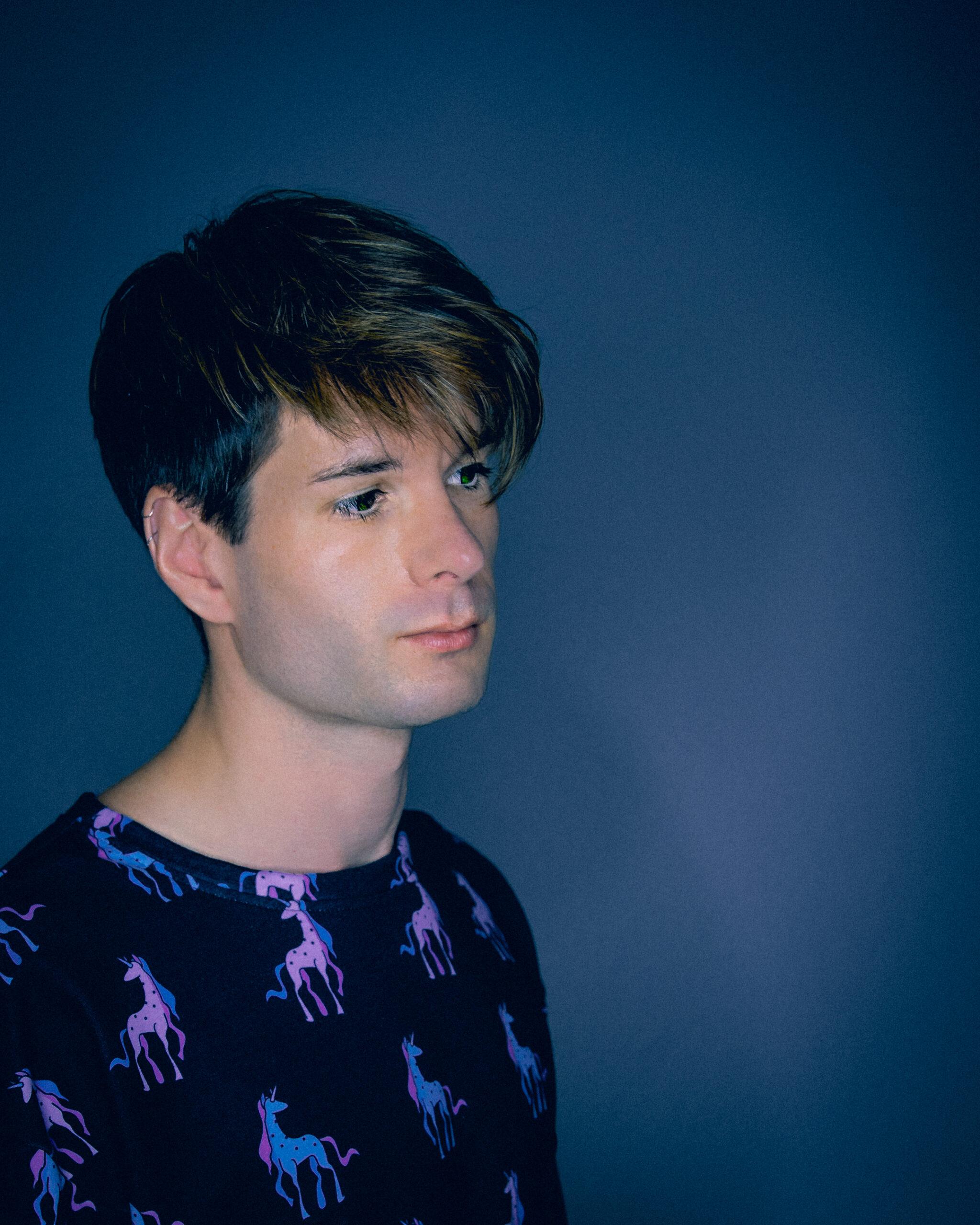 Zaccy Self Portrait Wearing Pastel Goth Unicorn Sweatshirt